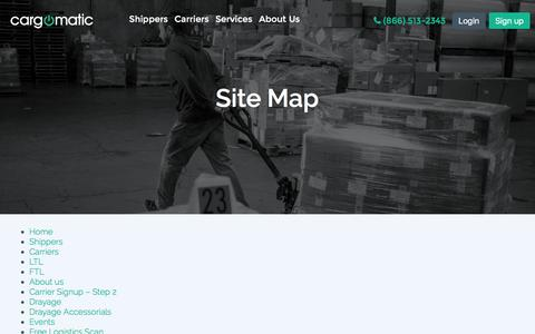 Screenshot of Site Map Page cargomatic.com - Sitemap - Cargomatic - captured Feb. 4, 2017