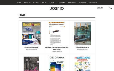 Screenshot of Press Page josmostudio.com - Press – Josmo Studio - captured Sept. 20, 2018