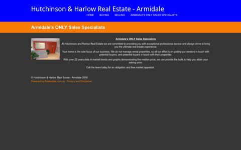 Screenshot of About Page hhrealestate.com.au - About Us - Hutchinson & Harlow Real Estate - Armidale - captured Feb. 1, 2016