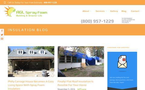 Screenshot of Blog aglsprayfoam.com - Blog | AGL Spray Foam - captured Nov. 19, 2016