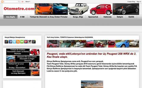 Screenshot of Home Page otometre.com - Otometre  - Otomobil Blogu; Haberler, Yeni Modeller - captured Nov. 29, 2018