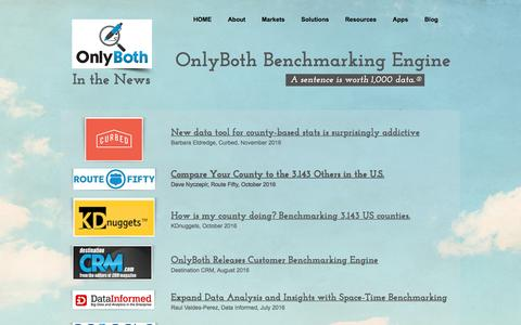 Screenshot of Press Page onlyboth.com - OnlyBoth Benchmarking Engine | In the News - captured Nov. 29, 2016