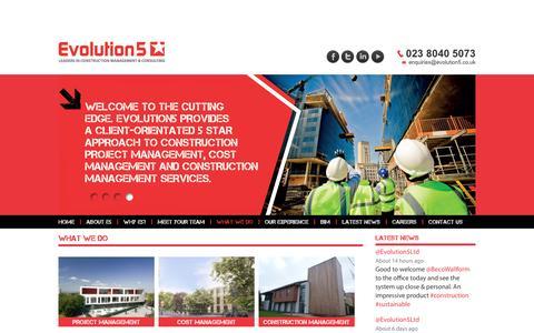 Screenshot of Case Studies Page evolution5.co.uk - What we do - Evolution5 - captured Oct. 3, 2014