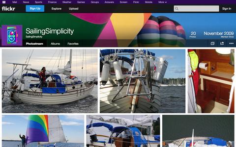 Screenshot of Flickr Page flickr.com - Flickr: SailingSimplicity's Photostream - captured Oct. 23, 2014
