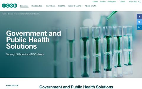 Screenshot of iconplc.com - Clinical Trial Services for US Federal Agencies & NGOs - captured Sept. 28, 2018