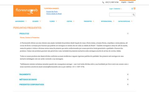 Screenshot of FAQ Page floresnaweb.com - Magento Commerce - captured June 6, 2017