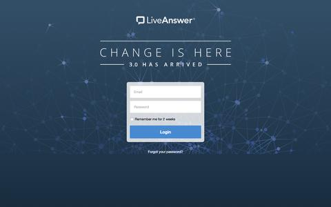 My LiveAnswer - Login