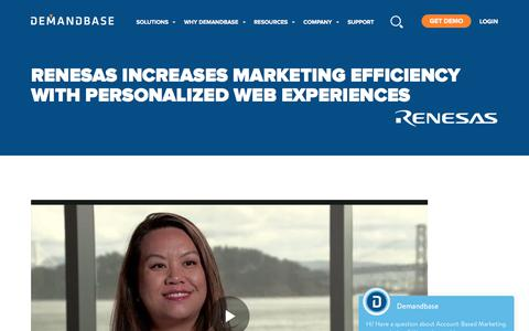 Screenshot of Case Studies Page demandbase.com - Renesas Maxes Engagement with Personalization | Account-Based Marketing – Demandbase - captured Nov. 6, 2019