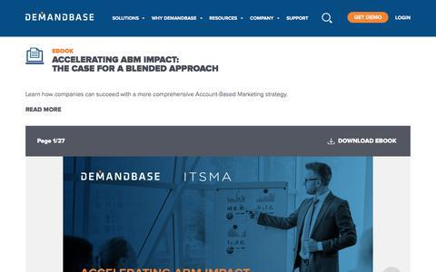Screenshot of Case Studies Page demandbase.com - Accelerating ABM Impact: The Case for a Blended Approach | Account-Based Marketing – Demandbase - captured Nov. 6, 2019