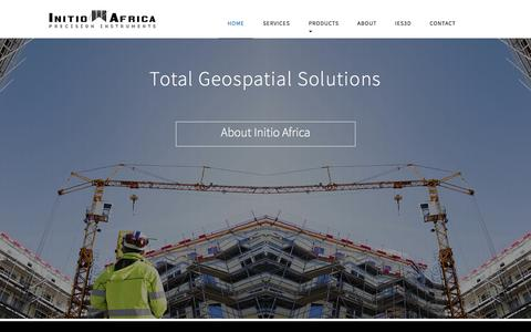 Screenshot of Home Page Contact Page Services Page initioafrica.co.za - Initio Africa   Survey instruments, Survey equipment, Survey equipment supplier, GIS Equipment, Land Survey, Engineering survey, Mining Survey, Geospatial solutions, Construction solutions   Inito Africa, South Africa - captured March 14, 2016