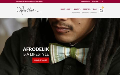 Screenshot of Home Page afrodelik.com - Afrodelik - captured Oct. 8, 2014