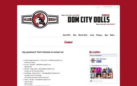 Screenshot of Contact Page domcitydolls.com - Contact | Dom City Dolls - captured Sept. 30, 2014