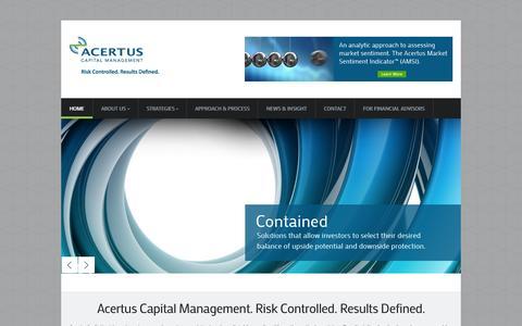 Screenshot of Site Map Page acertuscap.com - Acertus Capital Management, LLC | - captured Oct. 4, 2014