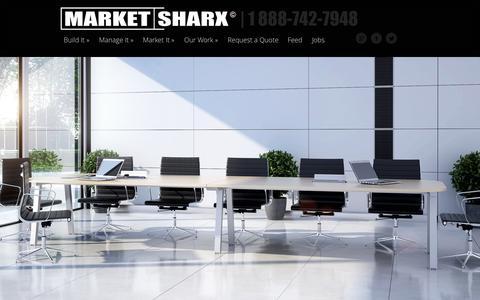 Screenshot of Home Page marketsharx.com - Market Sharx | Website Development | E-Commerce | Online Marketing | Graphic Design | Business Development | Image Management | Consultation Services - captured Sept. 30, 2014