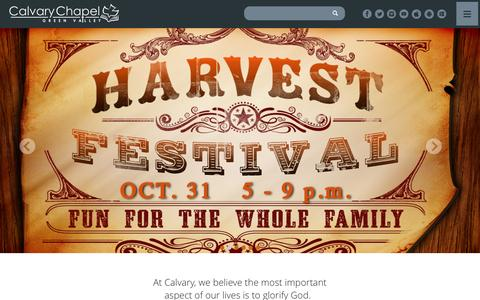 Screenshot of Home Page ccgreenvalley.org - Calvary Chapel Green Valley | Henderson, NV - captured Oct. 17, 2016