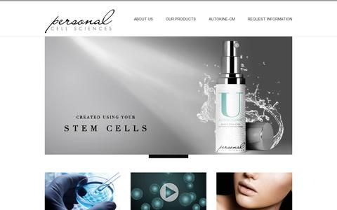 Screenshot of Home Page personalcellsciences.com - Personal Cell Sciences - captured July 11, 2014