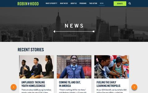 Screenshot of Press Page robinhood.org - News   Robin Hood - captured May 9, 2017