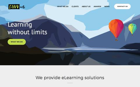 Screenshot of Home Page savv-e.com.au - Savv-e Learning - Your local eLearning partners - captured July 27, 2018