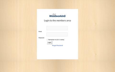 Screenshot of Login Page tedswoodworking.com - Members Login | Members Area - captured Dec. 4, 2016