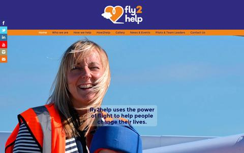 Screenshot of Home Page fly2help.org - fly2help | Leading UK Aviation Charity - captured Aug. 4, 2016