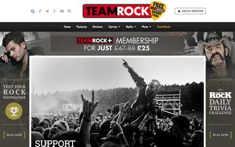 Screenshot of Support Page teamrock.com - TeamRock - captured July 16, 2015