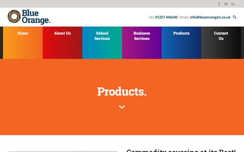 Screenshot of Products Page blueorangeit.co.uk - Blue Orange IT Products | Blue Orange IT - captured Oct. 6, 2018