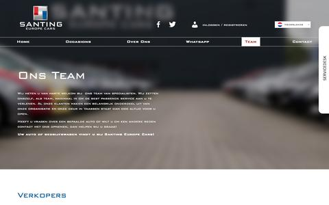 Screenshot of Team Page santingeuropecars.nl - Team – Santing Europe Cars - captured Feb. 12, 2018