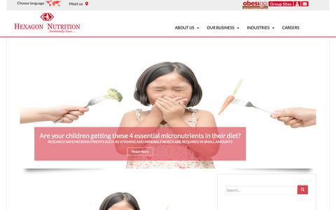 Screenshot of Blog hexagonnutrition.com - Blog - captured Nov. 9, 2018