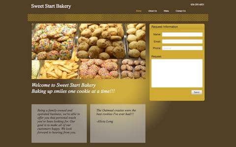Screenshot of Home Page sweetstartbakery.com - Sweet Start Bakery | St.Peters, MO 63376 - captured Oct. 9, 2014