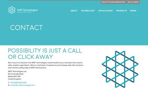 Screenshot of Contact Page moftechnologies.com - MOF Technologies | Contact - MOF Technologies - captured May 9, 2017