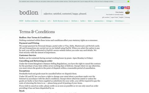 Screenshot of Terms Page bodlon.com - Bodlon Terms & Conditions | Bodlon - captured Dec. 9, 2018