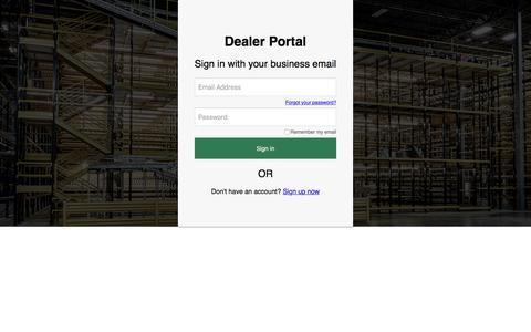 Screenshot of Login Page b2clogin.com - Steel King Industries, Inc. - captured Oct. 25, 2019