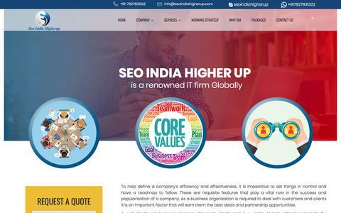 Screenshot of Team Page seoindiahigherup.com - Management | SEO India Higherup- Professional Seo Company India,Search Engine Marketing Company - captured April 2, 2018