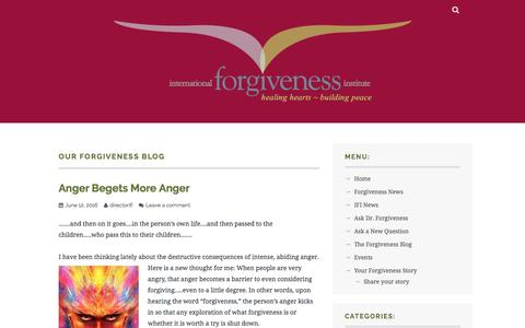 Screenshot of Blog wordpress.com - Our Forgiveness Blog – international forgiveness institute - captured June 14, 2016