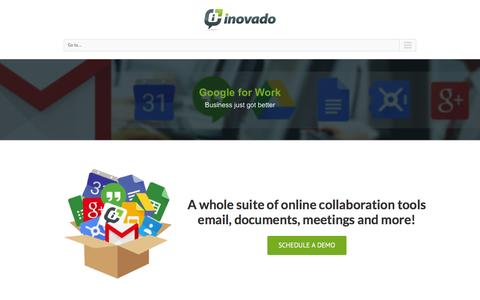 Screenshot of Products Page inovado.com - Google for Work - Getting Started - captured Jan. 8, 2016