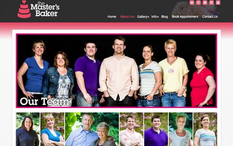 Screenshot of Team Page themastersbaker.com - Our Team - captured Sept. 30, 2014