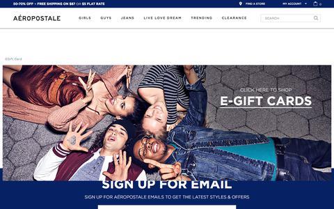 eGift Card Landing Page