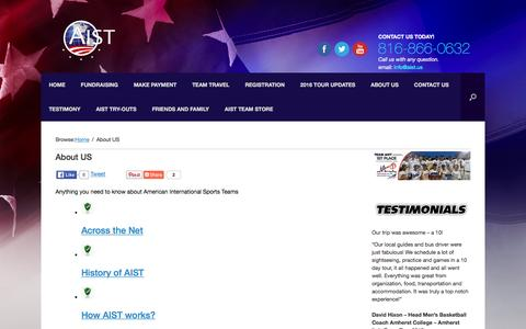 Screenshot of About Page aist.us - About US | AIST.us - captured Feb. 6, 2016