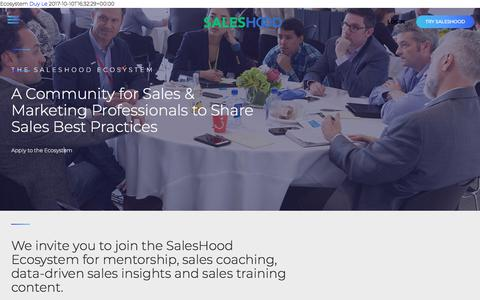 The SalesHood Ecosystem - An Exclusive Sales Community