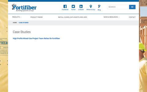 Screenshot of Case Studies Page fortifiber.com - Case Studies - Fortifiber - captured Oct. 14, 2017