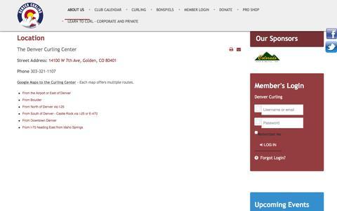 Screenshot of About Page denvercurlingclub.com - Denver Curling Club - About Us - captured Jan. 7, 2016