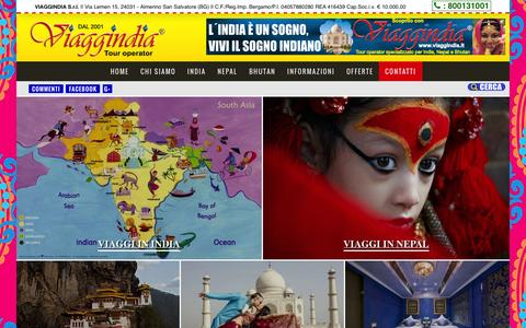Screenshot of Home Page viaggindia.it - India, Viaggi India, Viaggi Nepal, Viaggi Bhutan | Viaggindia® - captured Sept. 30, 2014