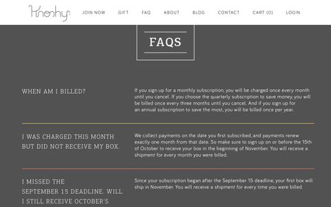 Screenshot of FAQ Page knoshy.com - FAQ – Knoshy - captured March 16, 2016