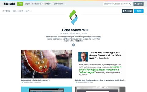 Saba Software on Vimeo