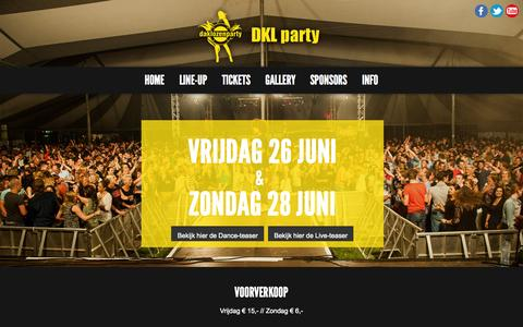 Screenshot of Home Page dklparty.nl - DKL party - Official Website - captured Oct. 12, 2015