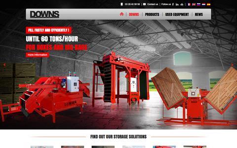 Screenshot of Home Page downs-fr.com - DOWNS - Matériels de réception et stockage pommes de terre - captured Sept. 13, 2015
