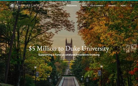 Screenshot of Home Page charleslafitte.org - Charles Lafitte Foundation - captured Oct. 19, 2018