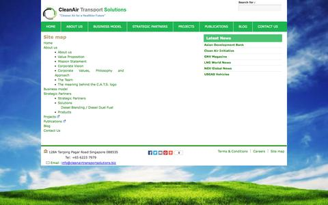 Screenshot of Site Map Page cleanairtransportsolutions.biz - sitemap - captured Oct. 2, 2014
