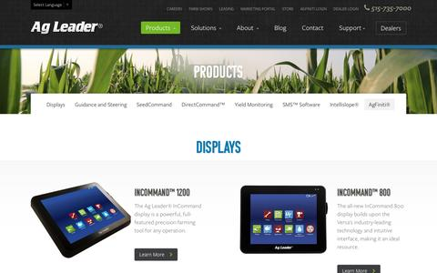 Screenshot of Products Page agleader.com - Products | Ag Leader Technology - captured Jan. 17, 2016