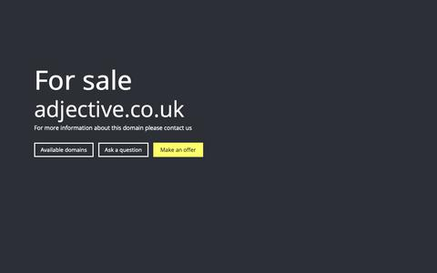 Screenshot of Home Page adjective.co.uk - adjective.co.uk - For Sale - captured Nov. 6, 2018